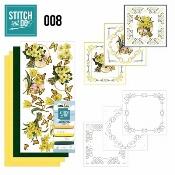Stitch & Do 8 - Gele bloemen per stuk