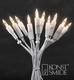 Miniverlichting, wit draad, 20 lampjes -220V Per zakje