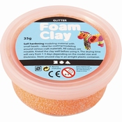Foam Clay, Glitter Oranje, 35 gram Per stuk