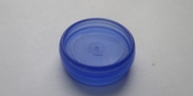 Uitbreidingsdisk - Blauw transparant 16 mm - kunststof Per stuk