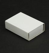 Kleine lucifersdoos, karton wit per stuk