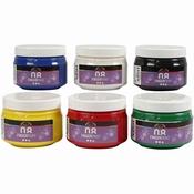 Vingerverf 6 kleuren in potten van 150ml Per stuk