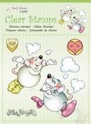 Marije Rahder - Clear stempel - Muizen wolken per stuk