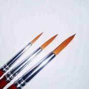 Synthetic brush set nr 2,4,6 per stuk