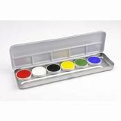 Aqua-schminkpalet 6-kleur per stuk