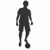 Label, zwart, afm 33x80 mm, voetbalspeler, 10stuks Per zakje