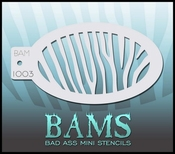 Bas Ass Mini Stencil 1003 - zebra per stuk