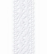 Kant lint Chantilly Wit  - 22mm breed per meter