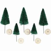 Kerstbomen, h: 40+60 mm Per zakje