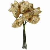 Kunst sterren, d: 25 mm, goud, 12stuks Per zakje