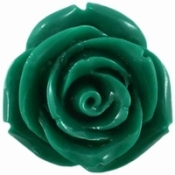 Groen kunststof roos 11mm (warm donker groen)