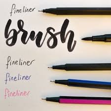 Handletteren - pennen en stiften
